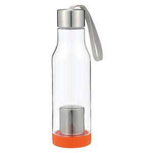 茶こし付き携帯ボトル600ml(オレンジ)