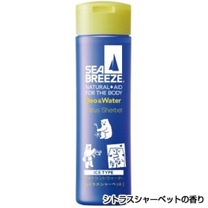SEA BREEZEデオ&ウォーターアイスタイプ160ml(シトラスシャーベットの香り)