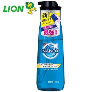 トップ スーパーNANOXプッシュボトル400g(クリスタルソープの香り)